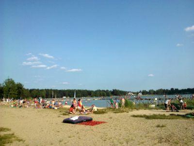 Jezioro Białe - plaża główna