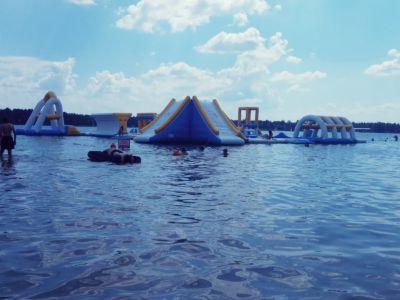 Plac zabaw na wodzie